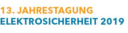 Logo 13. Jahrestagung Elektrosicherheit 2019